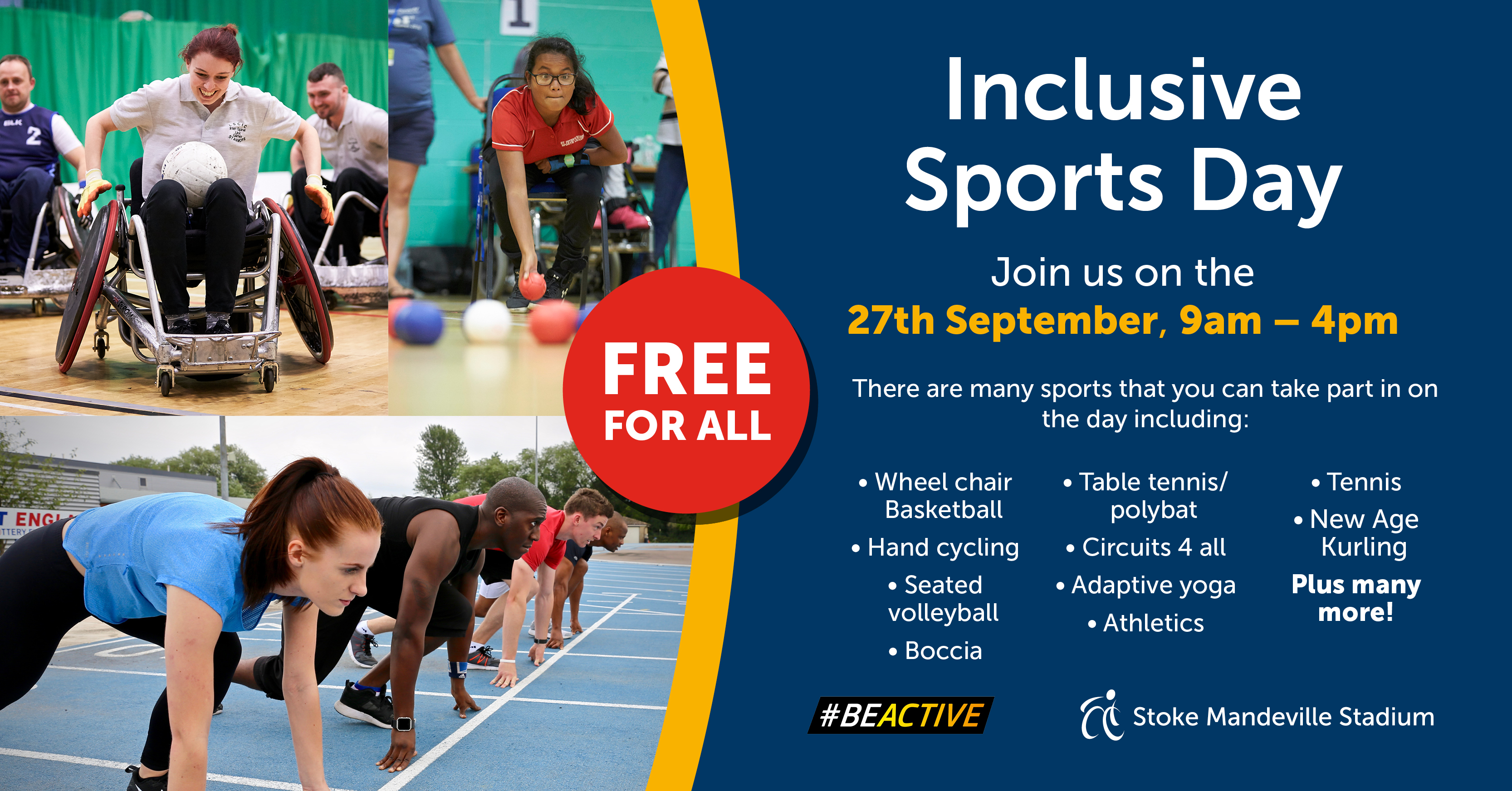 Take part in an Inclusive Sports Day this Friday in Stoke Mandeville