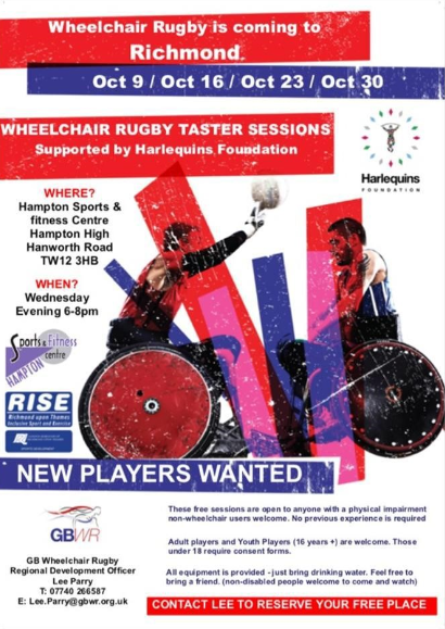 Wheelchair Rugby is coming to Richmond