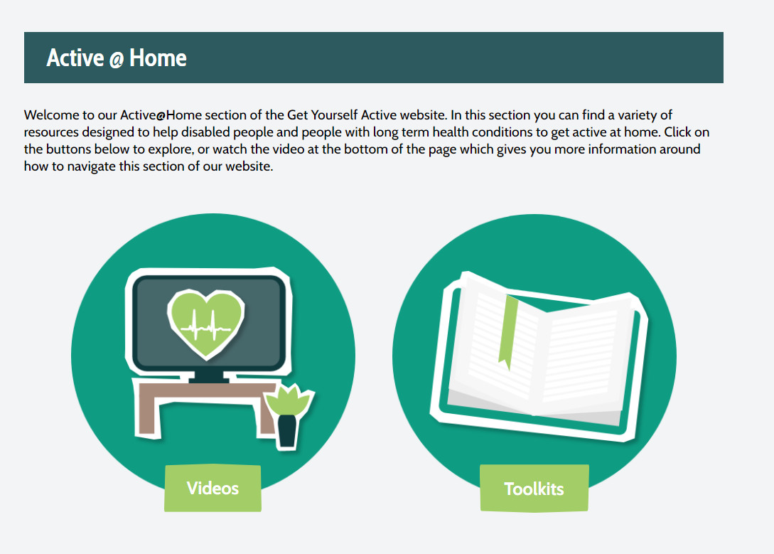 New section on our website to support you to get active at home