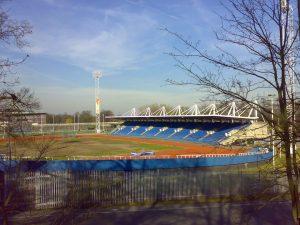 Crystal Palace athletics stadium is pictured