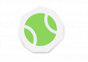A stylised tennis ball icon