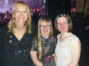 Dawn is pictured on the left with Becky Rich Ambassador and Jen Blackwell Founder Director of DanceSyndrome.