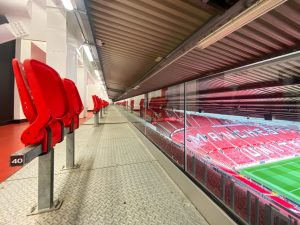 The new seats in the Stretford end. Images courtesy of Ashley Donelon Manchester United Official Photographer.